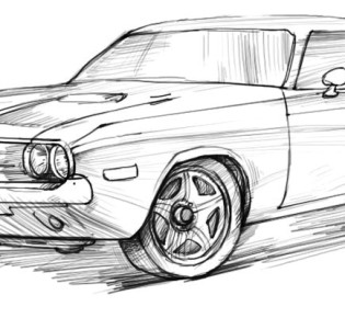 Рисуем Ford mustang | Ford
